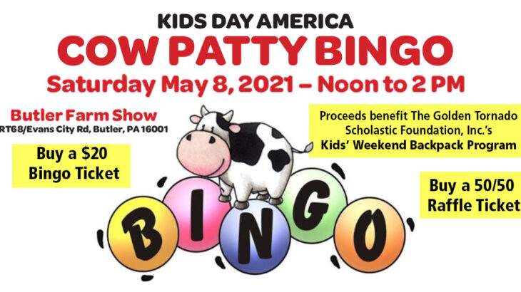 Cow Patty Bingo benefit May 8