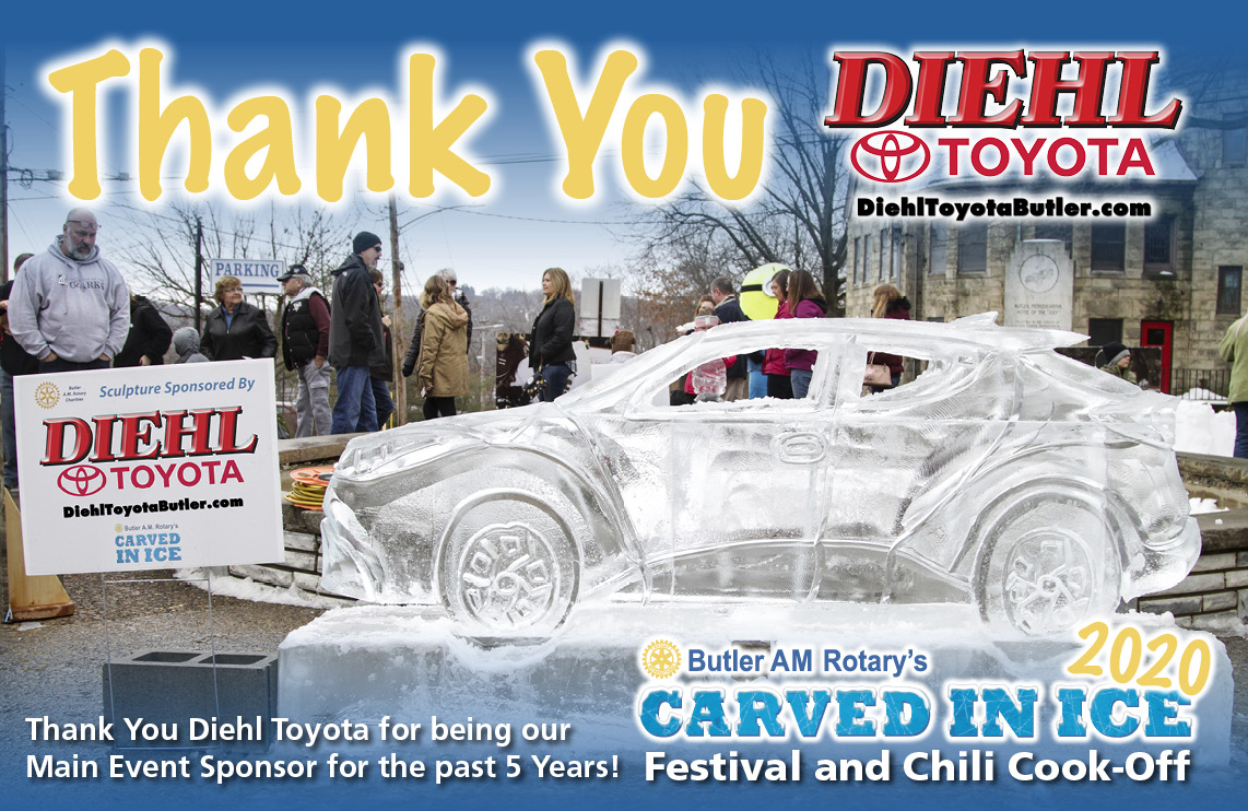 Thank You Diehl Toyota - Main Sponsor Carved In Ice 2020